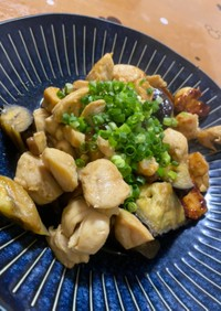 鶏ムネ肉とナスの甘辛風