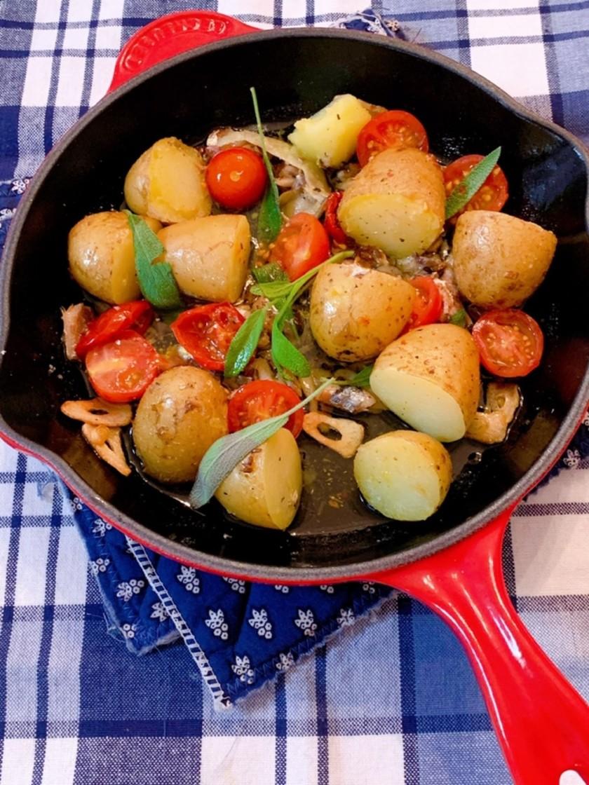 セミドライトマトとポテトのソテー