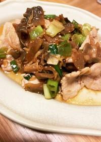 豚肉と九条葱のザーサイ炒め