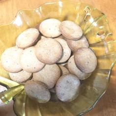そば粉とゴマ油のクッキー