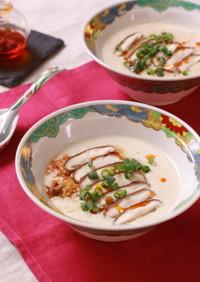 焼きしいたけ鹹豆漿(シェントウジャン)