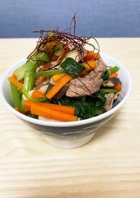 牛肉と小松菜のさっぱり和風煮