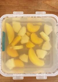 夏に冷んやりフルーツ寒天!食物繊維で腸活