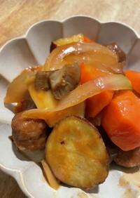簡単ミートボールと野菜の甘酢餡