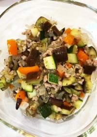 夏野菜とすし酢の炒め物ハーブソルト風味