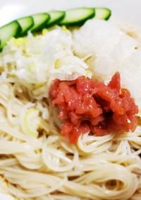 ぶっかけ梅おろし素麺