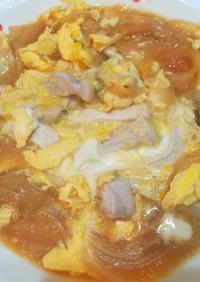 他人丼(豚ロース肉の卵とじ)
