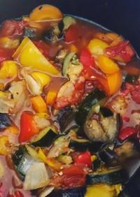 野菜の量で決め味 炊飯器無水ラタトゥーユ
