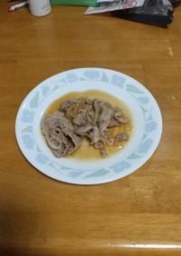 豚こま肉の生姜焼