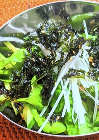 サンチュと韓国のりのチョレギサラダ