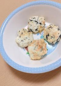 胸肉とひじきの豆腐ハンバーグ•つかみ食べ