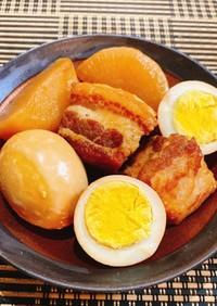 圧力鍋で簡単★豚の角煮(大根&茹で卵)★