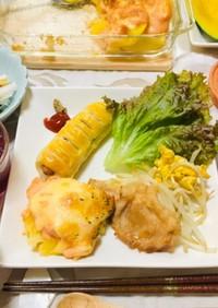 焼肉メインの夕飯・明太ポテトグラタン