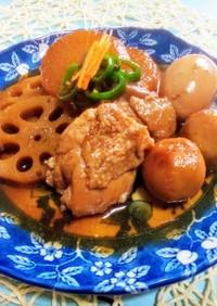鶏と根菜のコク旨たまり醤油生姜煮込み