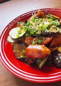 ウィンナーと夏野菜のオイスターマヨ炒め