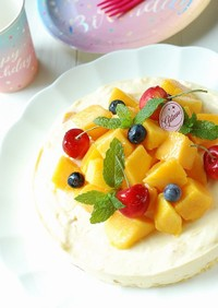 めちゃマンゴー♡マンゴーレアチーズケーキ