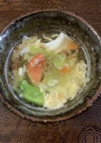 レタスとトマトのかき玉スープ