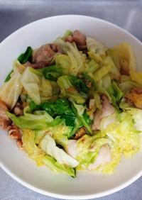 鶏とキャベツの味噌炒め