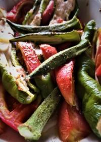 万願寺の鶏肉トマト オーブン焼き