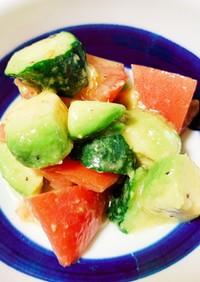 トマトとアボカド・きゅうりの抗酸化サラダ