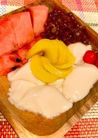 フルーツたっぷりお手軽豆花(トウファ)