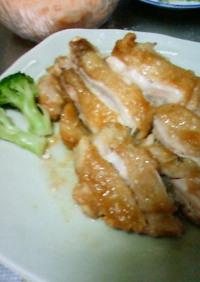 鶏肉照り焼きステーキ(あの、ダシ醤油で)