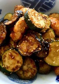 鶏ささみと夏野菜の黒酢炒め