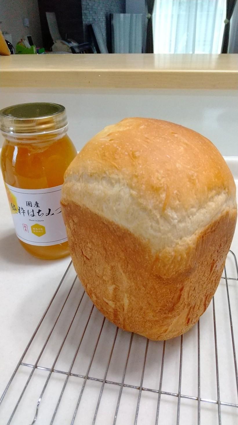 HB♪国産小麦粉ではちみつミルク食パン
