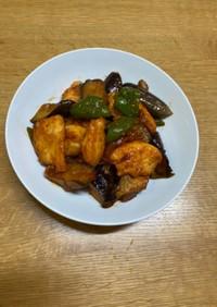鶏肉と夏野菜の炒め物(チリソース風味)