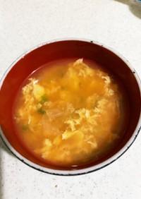 簡単☆包丁いらず☆冷たいキム卵スープ