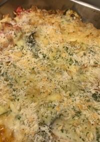 マカロニ入り野菜のチーズ焼き!