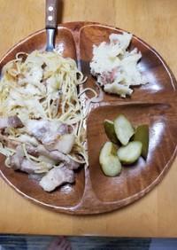 アンチョビのポテトサラダ(右上)