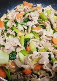 シーフードミックスと焼肉のたれ簡単八宝菜