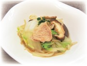 白菜ともやしの煮物 柚子胡椒風味の写真