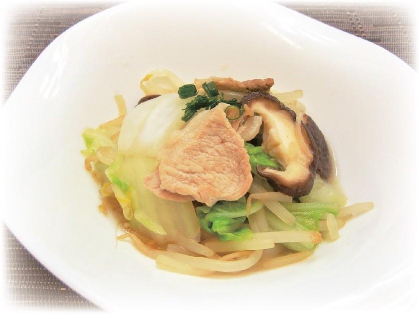 白菜ともやしの煮物 柚子胡椒風味