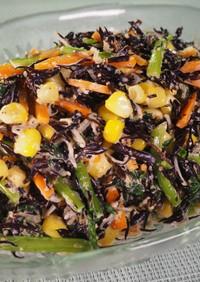 横浜産小松菜とひじきのごまマヨサラダ