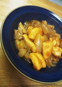簡単メイン♪鶏と蒟蒻と玉葱の甘辛炒め煮