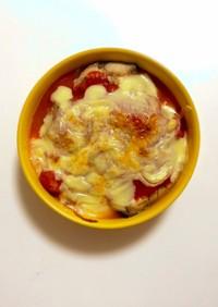 【簡単】サバの水煮缶でトマトチーズ焼!