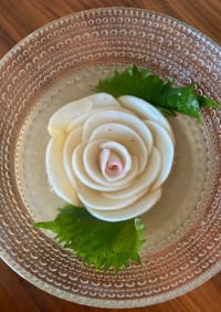 薔薇の寒天ゼリーサラダ