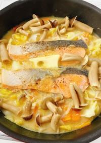 フライパンで超簡単♡鮭のちゃんちゃん焼き