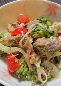 サバ缶(味噌煮)サラダ