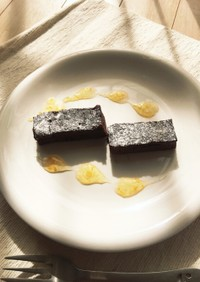 豆腐のガトーショコラ〜マーマレード添え〜