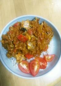 鯖缶とトマト缶で冷製カレー