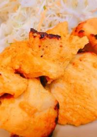 ノンオイル☆鶏むね肉のタンドリーチキン