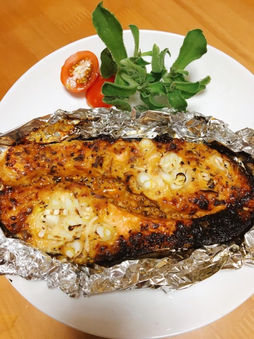 鮭のマヨ味噌焼き