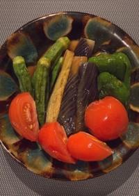 めんつゆで簡単!夏野菜の揚げ浸し