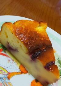 水切り不要のブルーベリーヨーグルトケーキ
