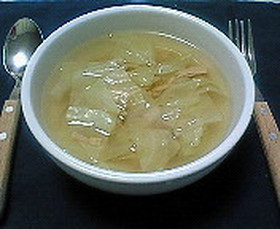 キャベツとツナのスープ
