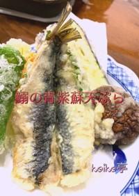 イワシの青しそ天ぷら 開き方