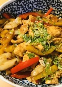 鶏肉&キャベツの赤味噌オイスターソース炒